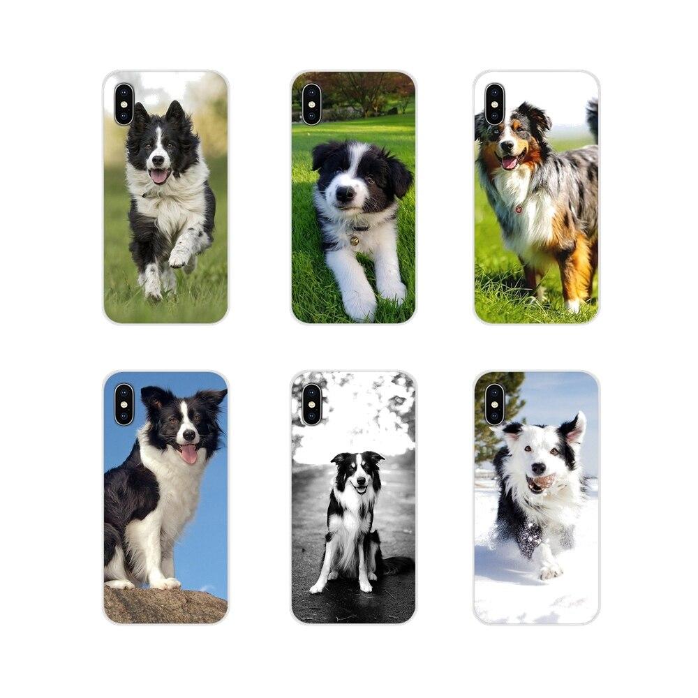 Para HTC One U11 U12 X9 M7 M8 A9 M9 M10 E9 Plus Desire 630 530 626 628 816 820 830, funda de perro Collie transparente suave
