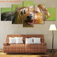 golden dog unframed painting canvas wall art decor living room decor print poster modern animal picture 5 panels