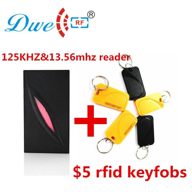 DWE CC RF 125khz y 13,56 mhz kr300 frecuencia doble impermeable nfc wiegand reader puerta control de acceso wiegand 34
