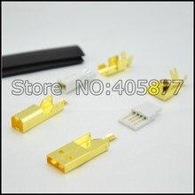 Connecteur USB plaqué or haut de gamme USB A + prise de USB B de Type A-B pour bricolage câble USB fabriqué à Taiwan