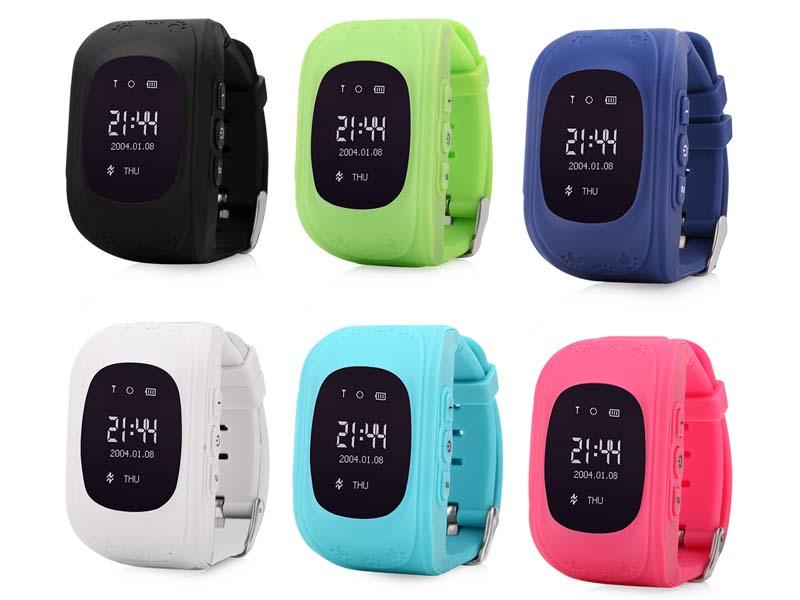 Q50 GPS Tracker Watch Kids Smart watch SOS call Anti Lost Bracelet Wristband Children Wearable Devices OLED GPS Locator Tracker