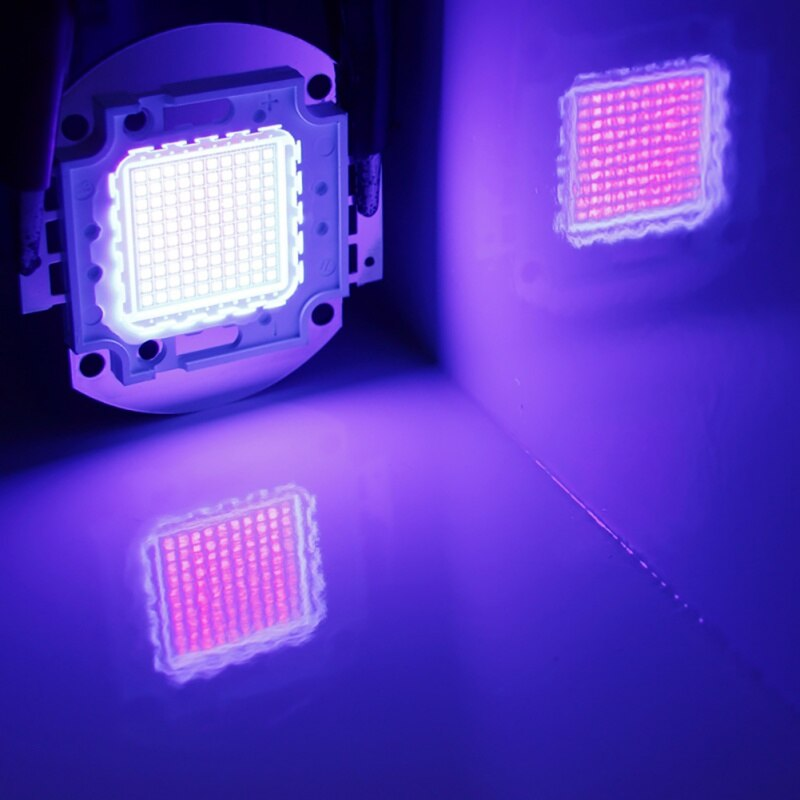 100W Outdoor Lighting Led Chip Purple Ultraviolet Light Beads Ultra Violet Bulb Lamp