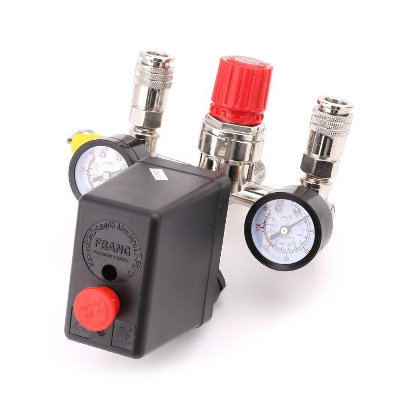 Воздушный компрессор реле давления клапан 0,5-1,25 МПа с коллекторным регулятором и манометром WF4458037