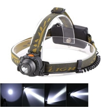 100M Distance phare 18650 ou 3XAAA batterie 1200 Lumens LED IR capteur phare phare lanterne lampe de poche Camping en plein air