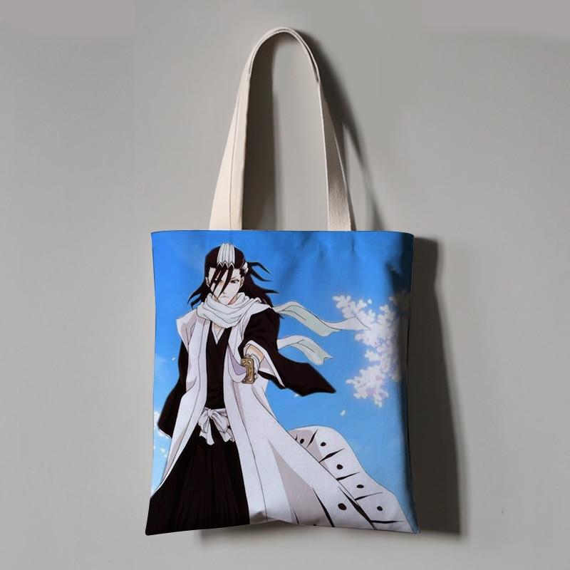 Anime lejía Harajuku lona bandolera bolso de mujer bolso de compras bolsa de almacenamiento de animación
