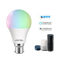 Умная WIFI Светодиодная лампа 11 Вт затемняемый светильник RGB + W Светодиодная лампа для телефона пульт дистанционного управления совместим с Alexa Google лампа для дома светильник лампа