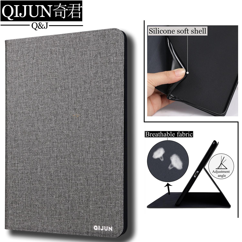 Carcasa para tableta con tapa QIJUN para Apple ipad Air 2 de 9,7 pulgadas, funda protectora con soporte, fundas de silicona blanda para Air2 A1566 A1567