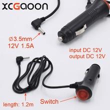 XCGaoon 3,5mm Puerto cargador de coche para detector de radar para coche/cámara DVR/Entrada GPS DC 12V salida 12V 1.5A, longitud del Cable 1,2 m (3.9ft)