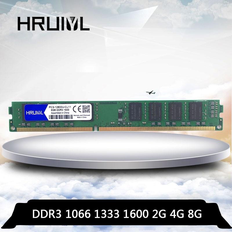HRUIYL Memoria RAM DDR3 4GB 8GB 16 GB 2GB 1066mhz 1333mhz 1600MHZ...