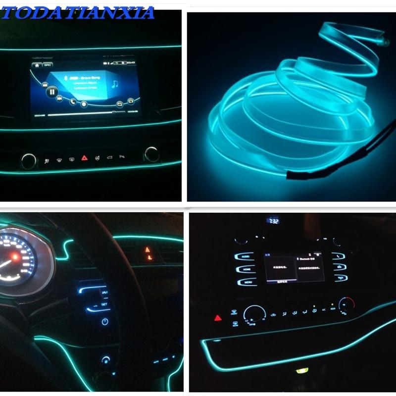 Decoración del coche LED de luz de tira de luz de neón para tucson polo volkswagen mercedes de la CIA opel meriva renault clio volvo v60 polo 6r