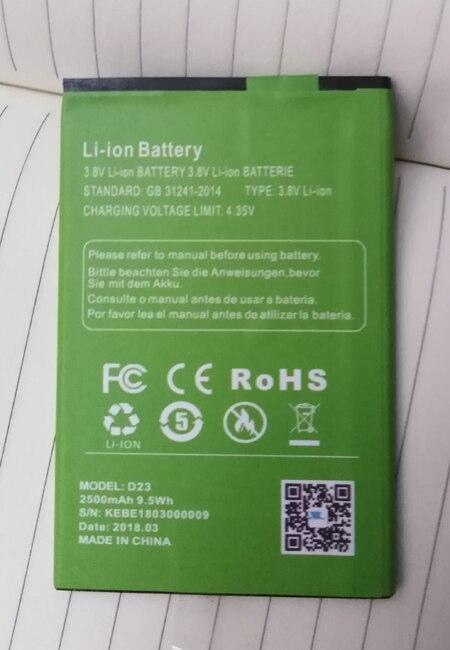 Original XGODY D23/ P30 phone battery 2500mah for XGODY P30/ D23  Mobile Phone MT6580A Quad Core-free shipping