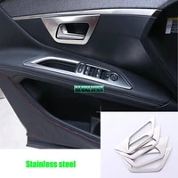 stainless steel car door handle bowl cover interior decoration trim for peugeot 4008 5008 2017 2018 2019 car accessories