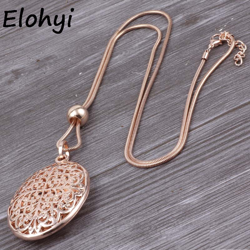 Eleyhi, diseño vintage para mujeres, colgante de estado tridimensional completo, cadena larga de suéter para mujeres, collar y colgantes al por mayor