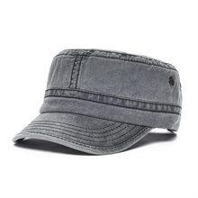 VOBOOM-casquette militaire en coton lavé   100%, casquette dété pour hommes, casquette militaire plate et ajustable, casquettes allemandes pour hommes, 162