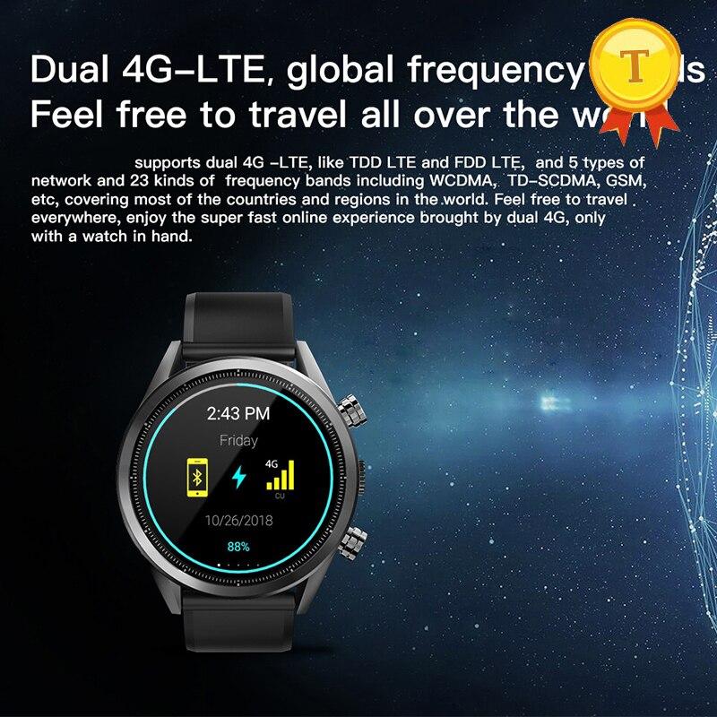 2019 superventas 3GB ram 32GB rom Dual 4G lte TDD FDD reloj de pulsera frecuencia global 8.0MP reloj inteligente Teléfono para IOS android