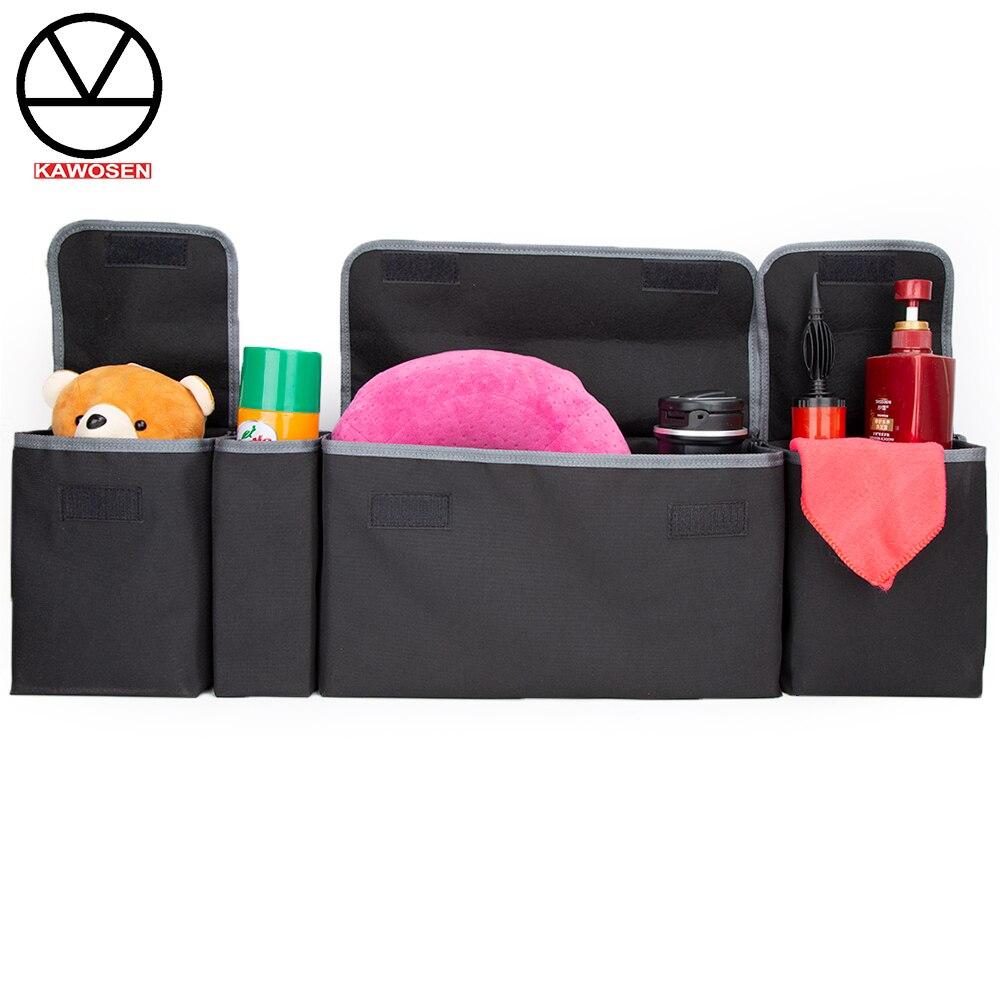 KAWOSEN Car Trunk Organizer Adjustable Backseat Storage Bag High Capacity Multi-use Oxford Automobile Seat Back Organizer CTOB02