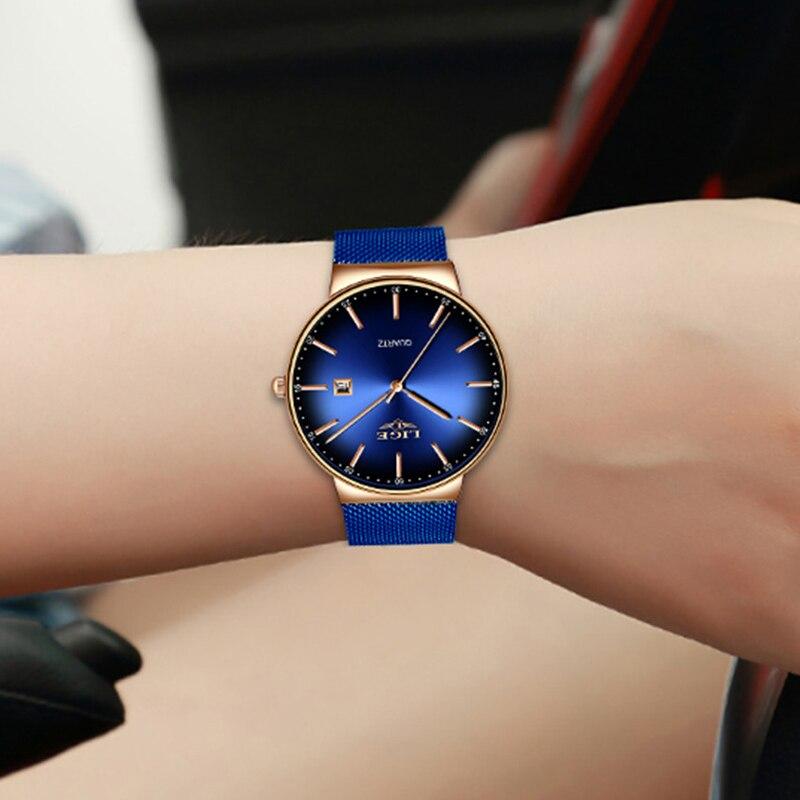 LIGE Fashion Women Watches Ladies Top Brand Luxury Sport Quartz Dress Watch Ladies Full Steel Waterproof Watch Relogio Feminino enlarge
