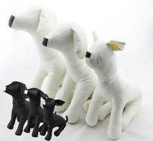 حيوان أليف جديد لطيف توروس نماذج نماذج جلدية بولي كلوريد الفينيل الكلب العارضات ملابس الحيوانات الأليفة الوقوف S/M/L DMLS-001D