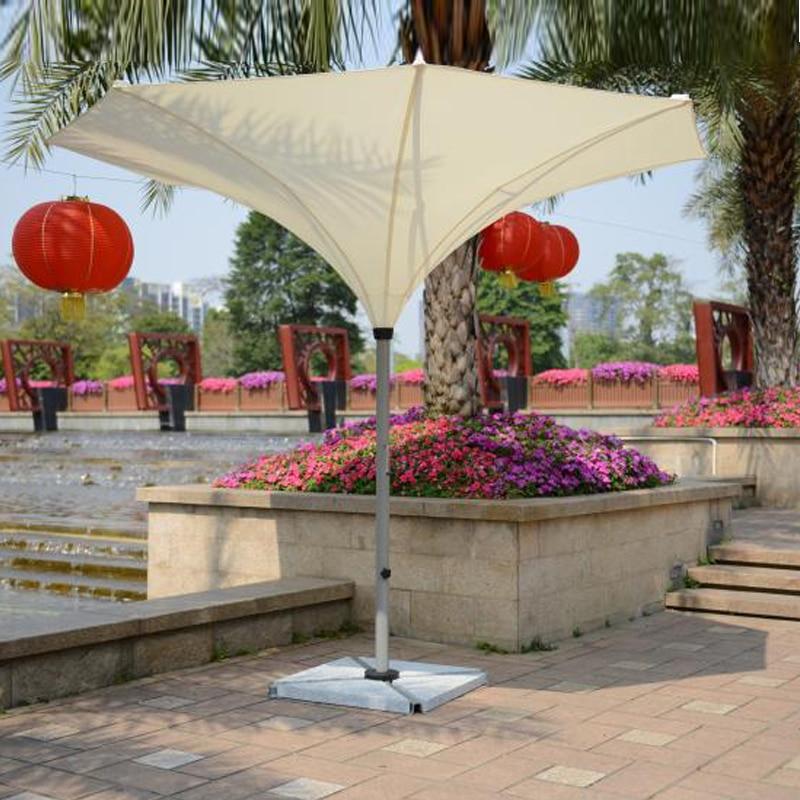 3.5 meter deluxe flower outdoor umbrella garden parasol sunshade for patio furniture covers ( no stone base )