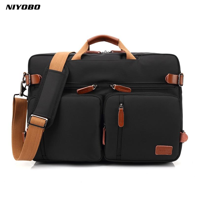 NIYOBO-حقيبة ظهر أكسفورد مقاومة للماء للرجال ، حقيبة عمل ، حقيبة كتف ، كمبيوتر محمول ، حقيبة سفر قابلة للتوسيع ، جودة عالية