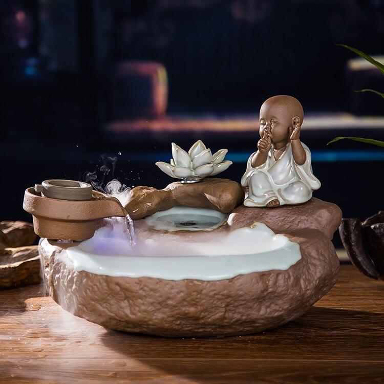 a Água é a Fonte de Cerâmica Porcelana Decoração Feng Shui Sorte Roda Umidificador Aquário Desktop Estudo Escritório