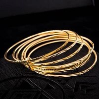 women bangle yellow gold filled classic women bracelet gift unopen
