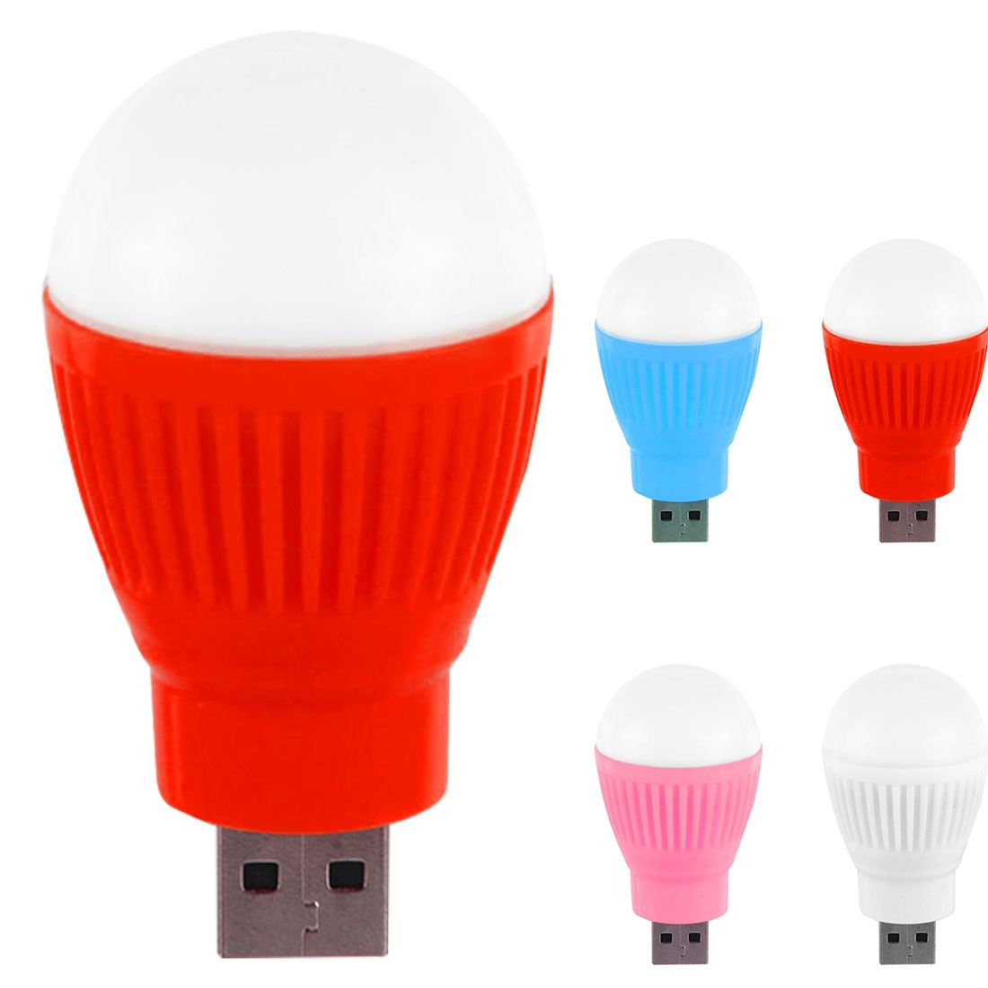 Mini bombilla led USB linterna redonda al aire libre luz de noche lámpara de emergencia ordenador portátil ahorro de energía luz de lectura lámpara de Camping