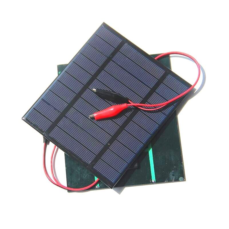 Venta al por mayor 2,5 W 5 V paneles solares pequeña energía Solar 3,6 V carga de batería Solar Led luz Solar celda 150*130*3 MM envío gratis