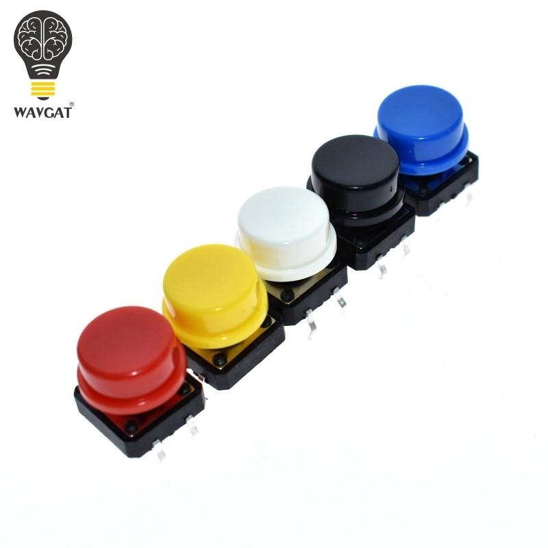 WAVGAT 12X12MM Módulo de llave grande Módulo de botón grande Interruptor táctil para luz módulo con sombrero de salida de alto nivel para arduino usb DIY Kit