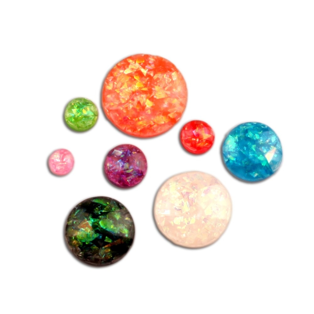 200 Uds redondas mixtas brillo decoración de resina de Flatback cabujón adornos para Scrapbooking Kawaii Diy Accesorios