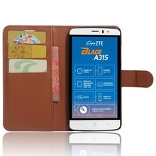 A315 الحال بالنسبة ZTE بليد أ 315 حالات المحفظة بطاقة الدعامات Lichee نمط الوجه أغطية جلدية غطاء وقائي أسود ل ZTE315