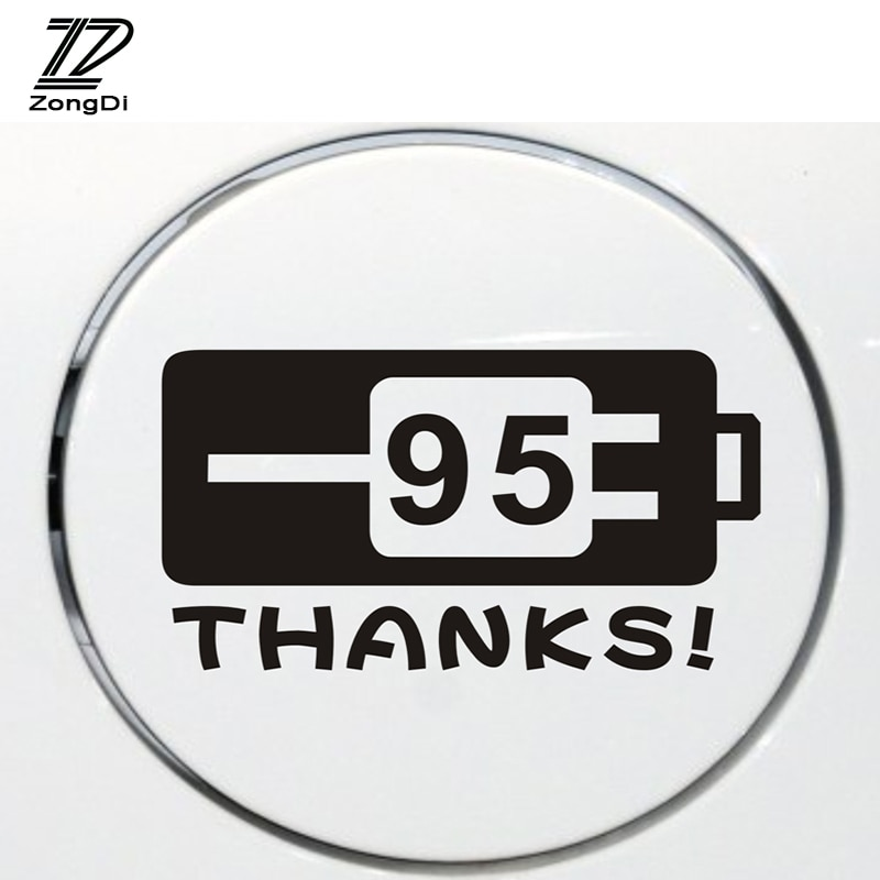 ZD Car Styling Sticker Fuel tank cap stickers For VW Golf 4 7 5 MK4 Mazda 6 cx-5 Peugeot 206 207 208 508 Touareg Tiguan 2017