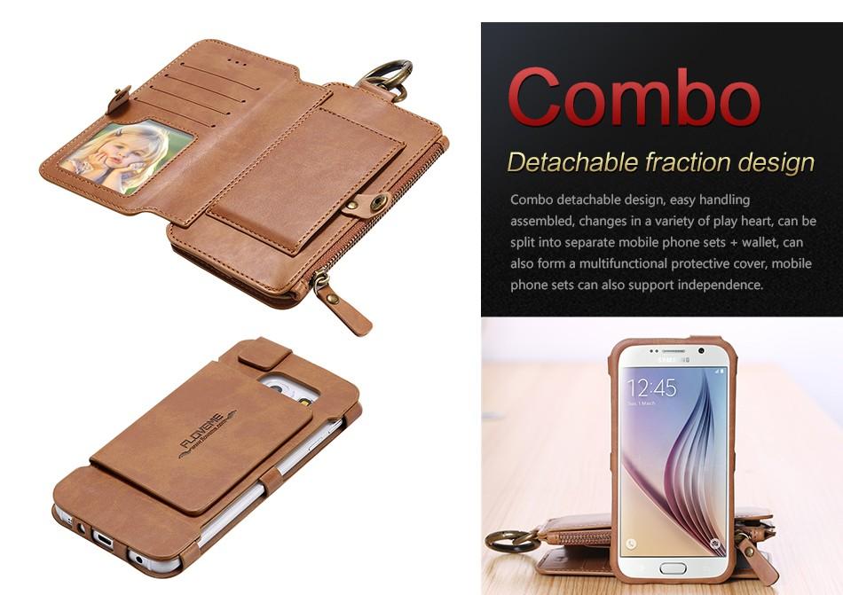 Floveme retro skóra telefon case do samsung galaxy note 3 4 5/s7/s6 edge plus metalowy pierścień coque karty portfel ochronne pokrywa 7