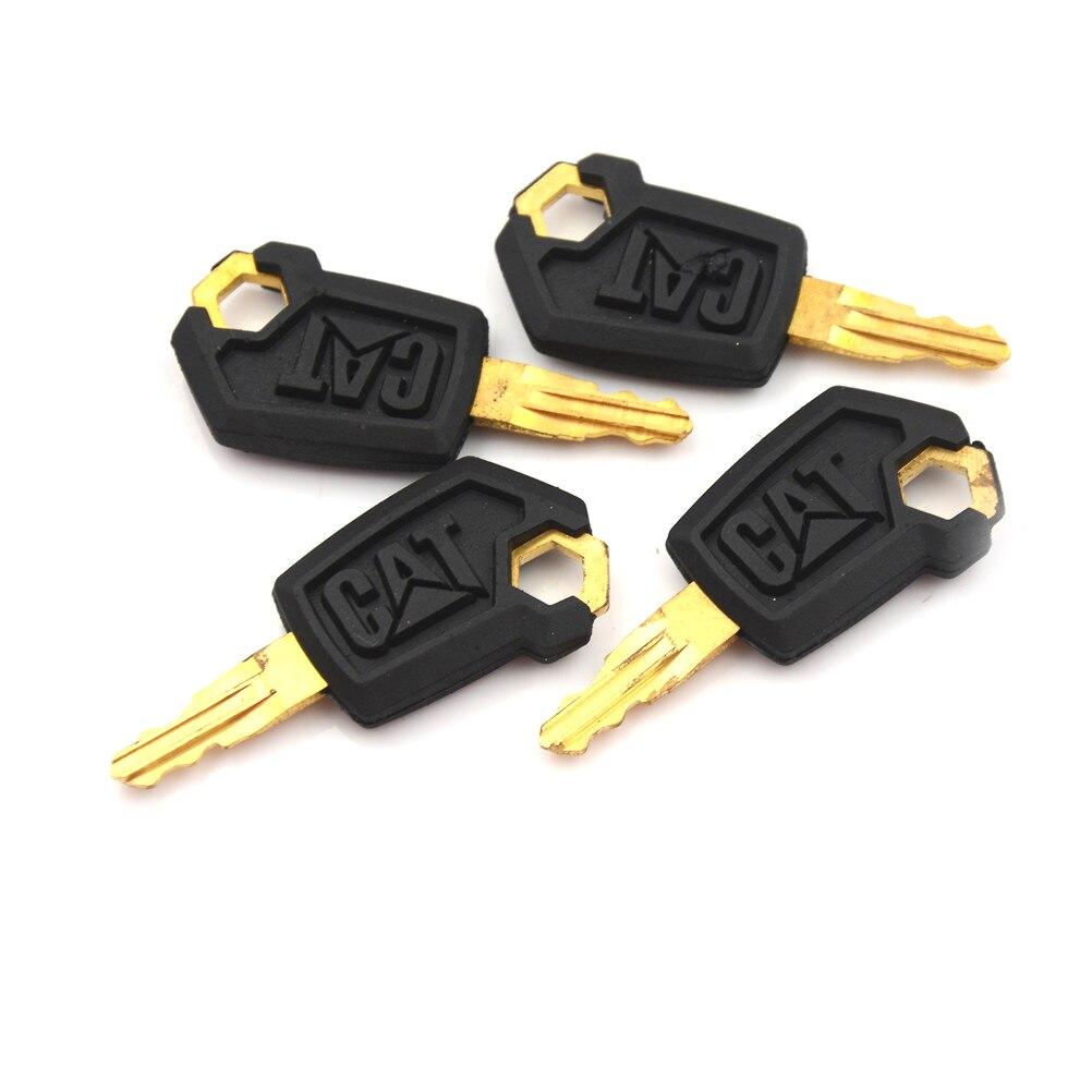 4 Uds de Metal y plástico ignición de maquinaria pesada topadora de cargadores clave para Caterpillar 5P8500 gato negro y oro, venta al por mayor