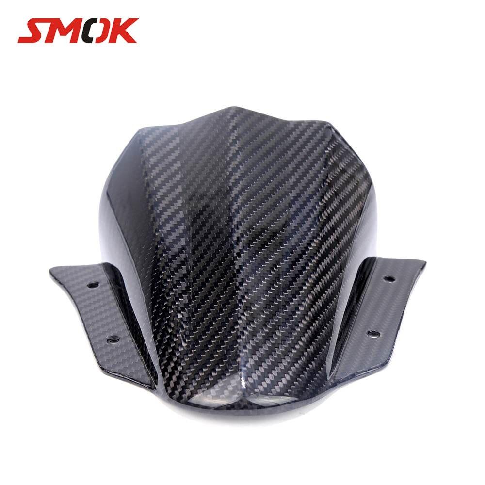 Parabrisas de fibra de carbono para motocicleta SMOK, parabrisas Deflector para Yamaha MT-09 MT 09 MT09 FZ-09 FZ09 2014-2017