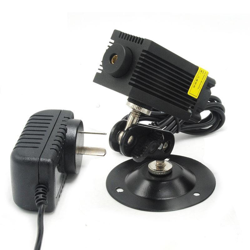 Dot Green Diode Laser Locator Module 532nm 100mw LED Lighting Room Escape Lights w 12V 1A Adapter & Holder
