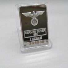 Deutsch münze sammlung, 1 unzen 999 feine Silber Bar mit Adler münze DEUTSCH WW2 EISEN KREUZ VON SILBER BAR Mit Verschiedenen Seriennummer