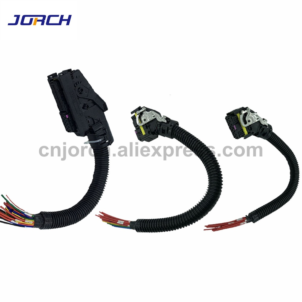 1set 16Pin 36Pin 89 Pin Way EDC7 Common Rail ECU Connector Auto PC Board Socket With Wiring Harness Pigtail For Bosch 1928404195