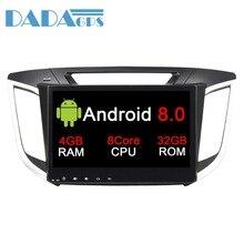 10.1 Android 9.0 Radio voiture lecteur DVD stéréo GPS Headunit pour HYUNDAI IX25 2014 2015 2016 2017 2018 CRETA Autoradio multimédia