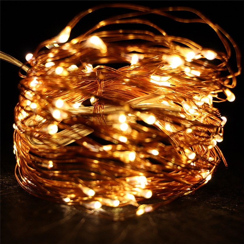 1m 10m usb led lights string outdoor copper wire led fairy light garland holiday chirstmas string light wedding party decorative 10M 100 LED String Light Waterproof LED Copper Wire String Holiday Outdoor Fairy Lights For Christmas Party Wedding Decoration