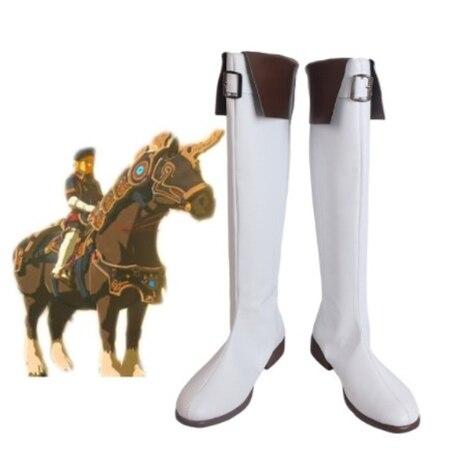 Zapatos de Cosplay The Legend of Zelda Breath of the Wild Link, botas para traje de Cosplay, accesorios para hombres, zapatos hechos a medida para Halloween