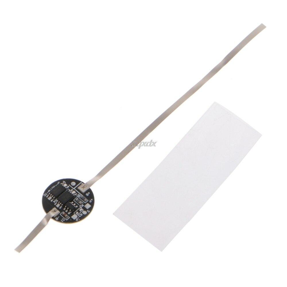 Placa de circuito de protección de PCB redondo 5A para 18650 Li-ion litio 3,7 V batería de la célula de la nave