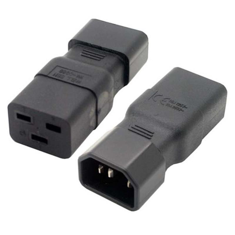Conversor Adaptador Universal Adaptador de Energia IEC 320 C14 para C19 IEC320 3 C19 para C14 AC Plug Power Tomada Pin conector de TOMADA de CORRENTE ALTERNADA