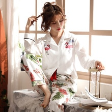 BZEL Women Pajamas Sets Autumn Spring Ladies Cute Sleepwear Womans Long Sleeved Household Clothing Set Lingerie Underwear M-3XL