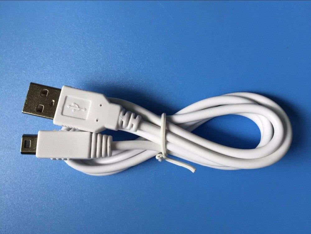 2 uds 1M USB carga de energía Cable para Nintendo WiiU blanca...