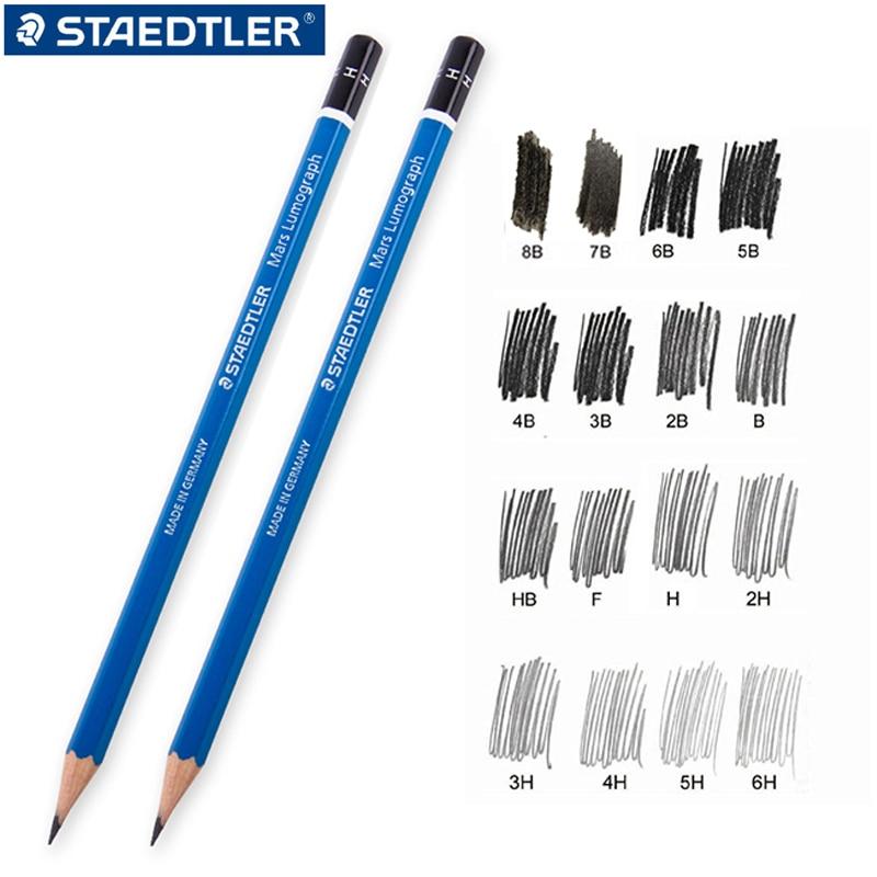 2 peças/lote STAEDTLER-100 lápis azul escrevendo desenho lápis desenho lápis esboço lápis estudante dedicado