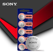 4pc Sony 100% Original CR1620 Button Cell Battery For Watch Car Remote Key cr 1620 ECR1620 GPCR1620 3v Lithium Battery