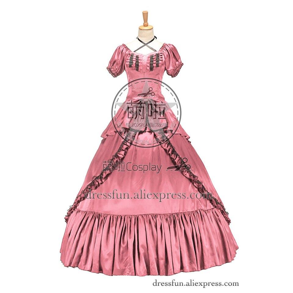 Victoriano bella sureña vestido gótico vestido de baile Halloween graduación disfraz de Lolita moda rápida envío con encaje negro decorado
