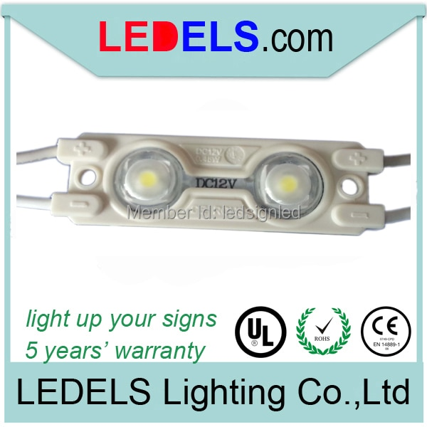 Hot-Selling 200pcs/lot 0.72W 2835 led module illumination for channel letters outdoors waterproof 5 years warranty