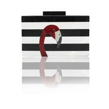 2017 tempo-limitado venda festa poliéster sacos de ombro duro aleta carteira feminina marca europeia high-end elegante e flamingo embreagem